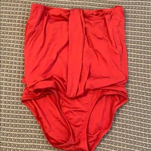 Jcrew strapless bathing suit!
